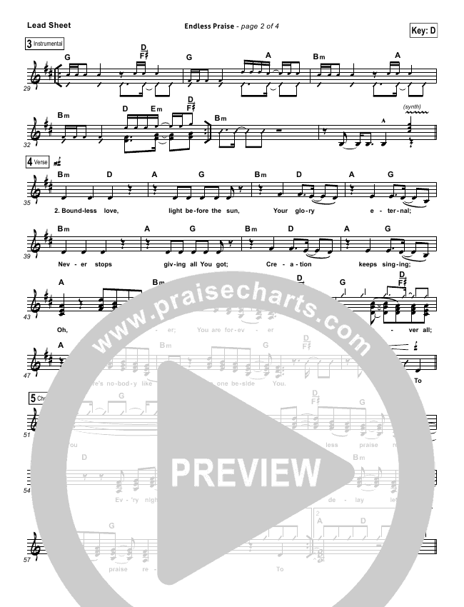 Endless Praise Lead & Piano/Vocal (Planetshakers)