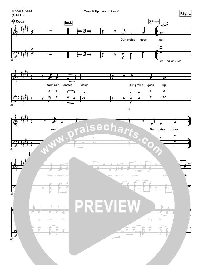 Turn It Up Choir Sheet (SATB) (Planetshakers)