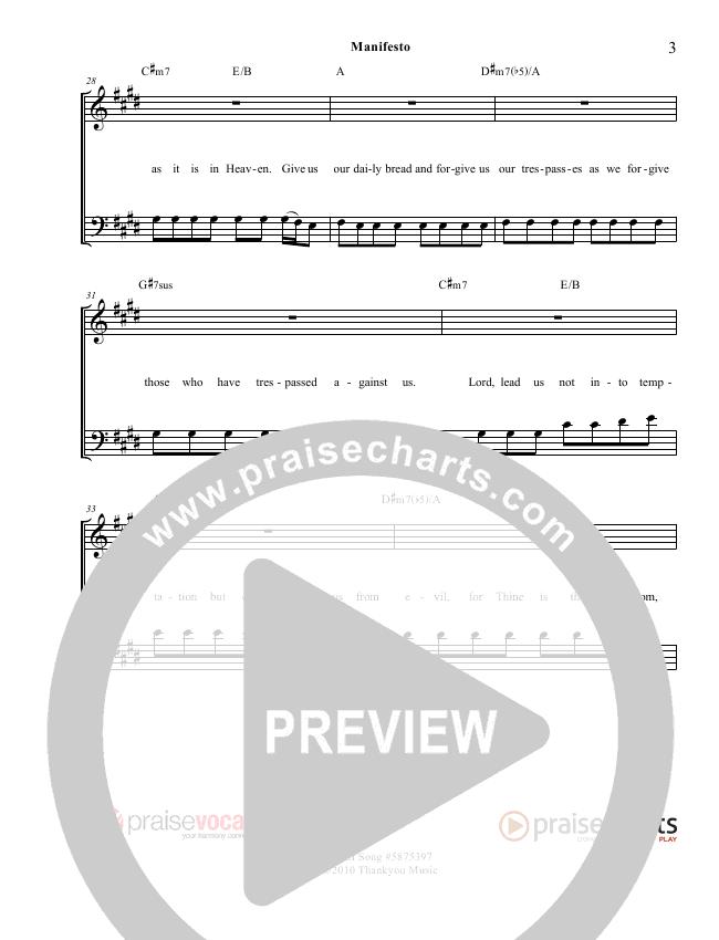 Manifesto Lead Sheet (PraiseVocals)