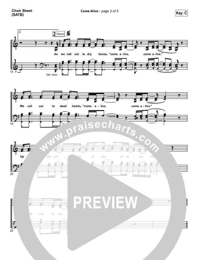 Come Alive (Dry Bones) Choir Sheet (SATB) (Lauren Daigle)