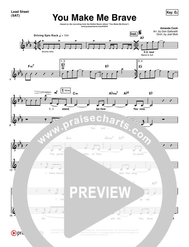 You Make Me Brave Orchestration & Finale (Amanda Lindsey Cook / Bethel Music)