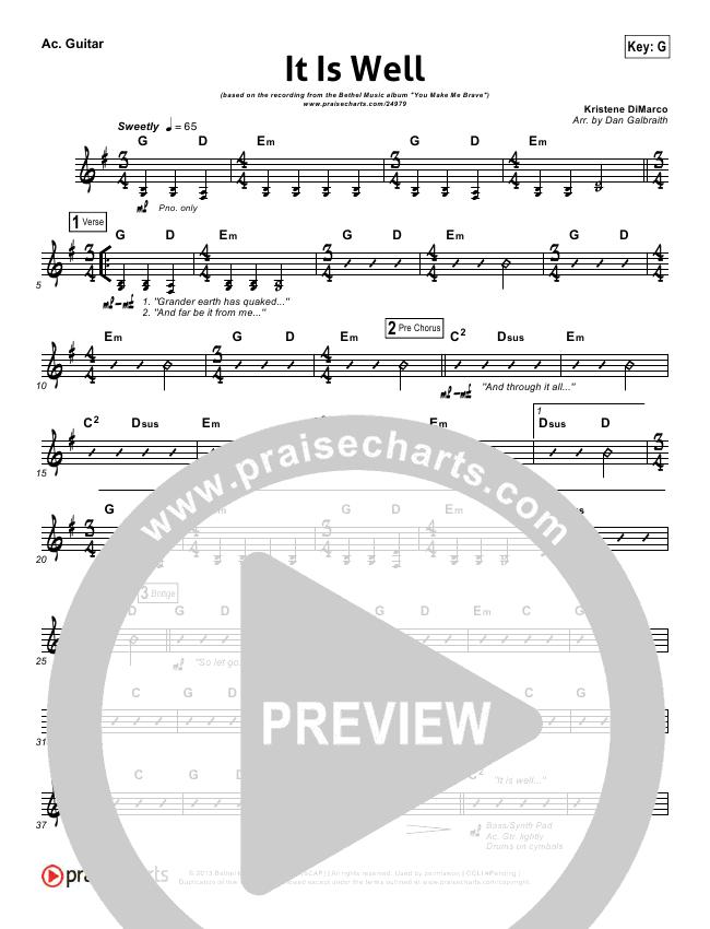 It Is Well Rhythm Chart - Kristene DiMarco, Bethel Music | PraiseCharts
