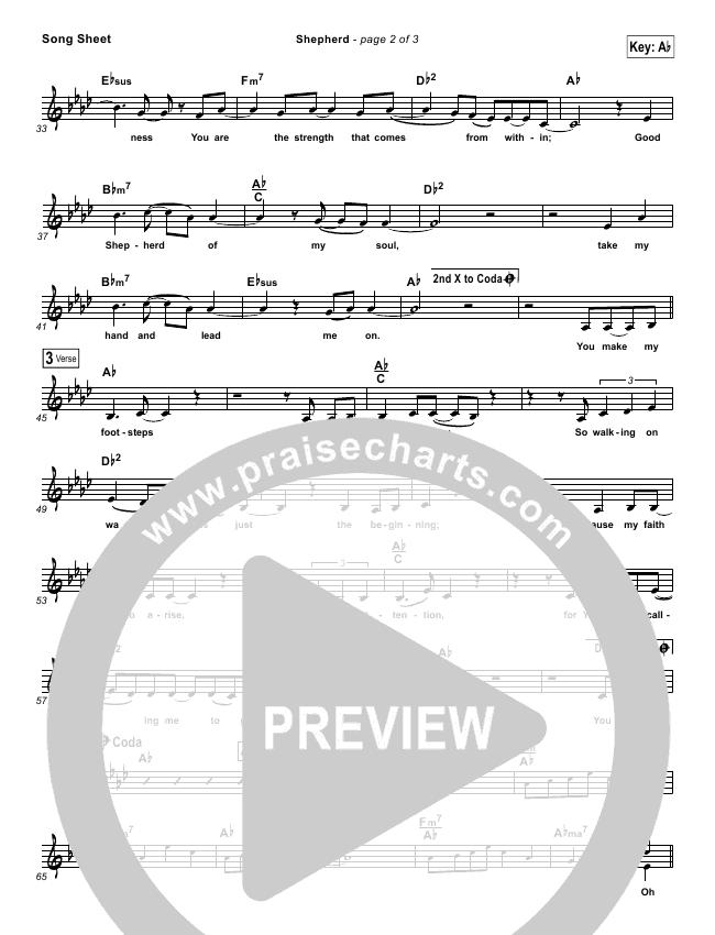 Shepherd Lead Sheet (Amanda Lindsey Cook / Bethel Music)