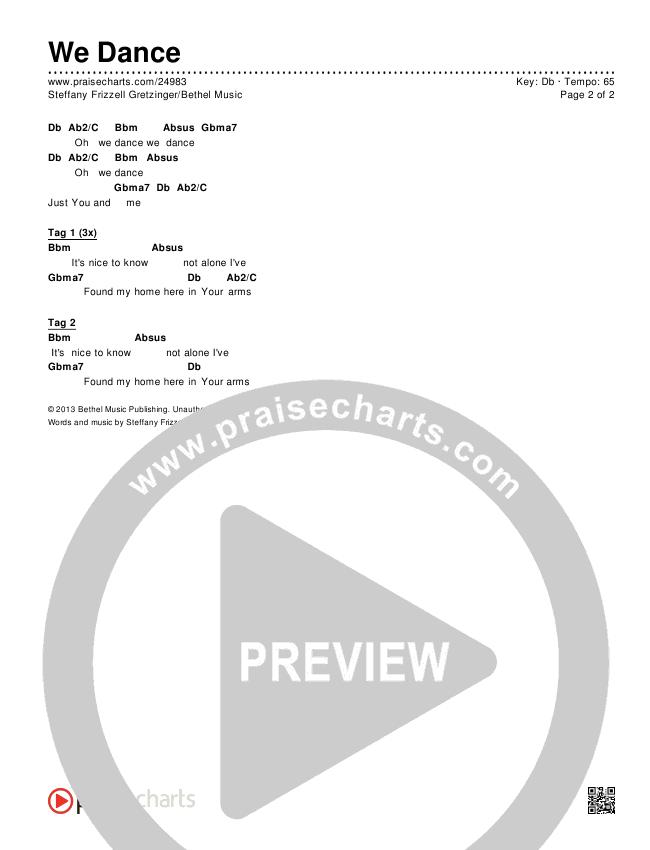We Dance Chords & Lyrics (Bethel Music)