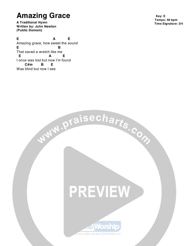 Amazing Grace Chord Chart (CentricWorship)