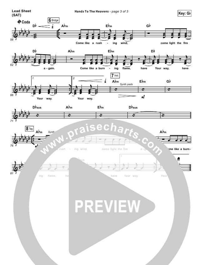 Hands To The Heavens Lead & Piano/Vocal (Kari Jobe)