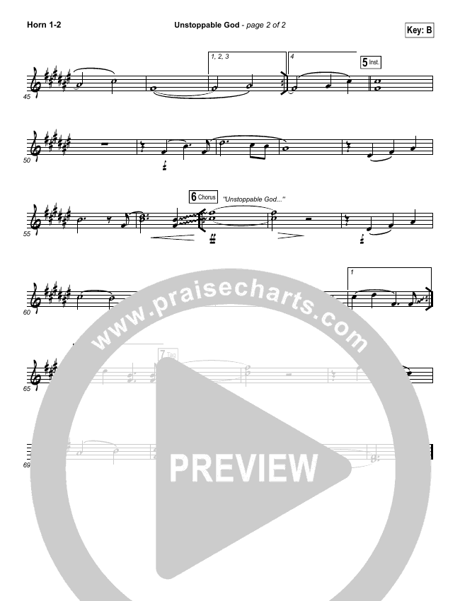 Unstoppable God Brass Pack (Elevation Worship)
