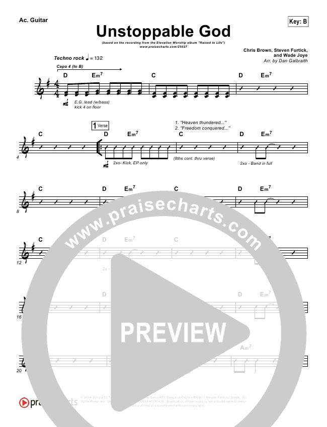 Unstoppable God Rhythm Chart (Elevation Worship)