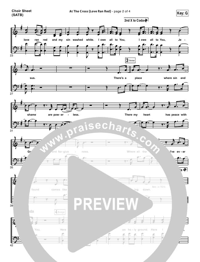 At The Cross (Love Ran Red) Choir Sheet (SATB) (Chris Tomlin / Passion)