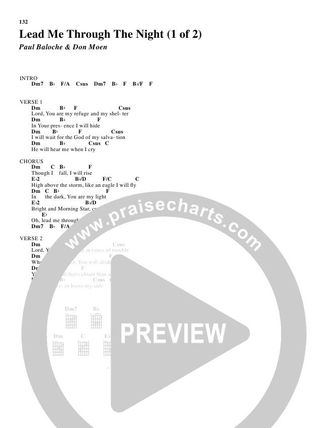 Lead Me Through The Night Chords - Don Moen | PraiseCharts