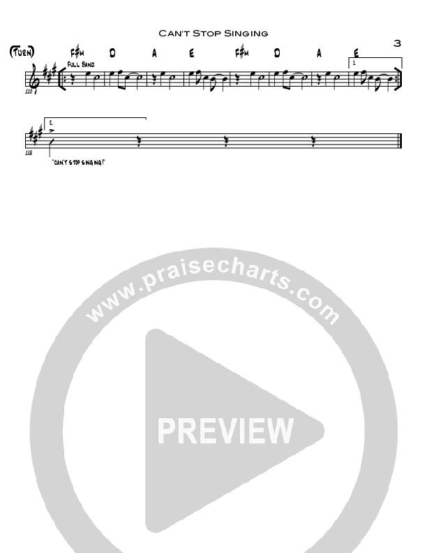 Can't Stop Singing Rhythm Chart (North Point Worship / Seth Condrey)