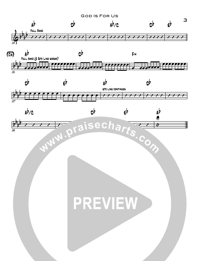 God Is For Us Rhythm Chart (North Point Worship / Chris Cauley)