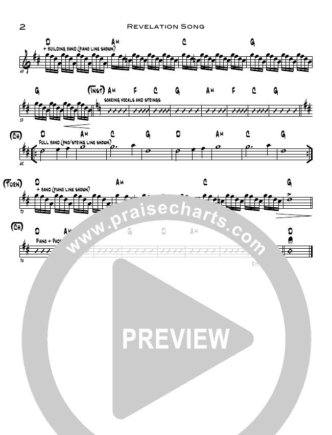 Revelation Song Rhythm Chart (Candi Pearson Shelton / North Point Worship)