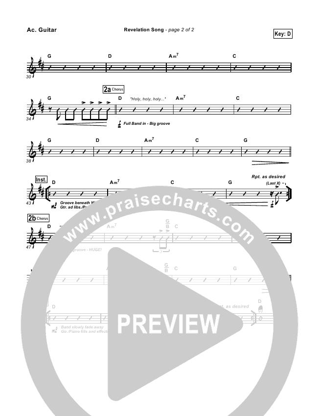Revelation Song Rhythm Chart (Don Moen)