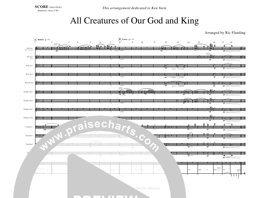 All Creatures Of Our God And King (Instrumental) Orchestration (Ric Flauding)