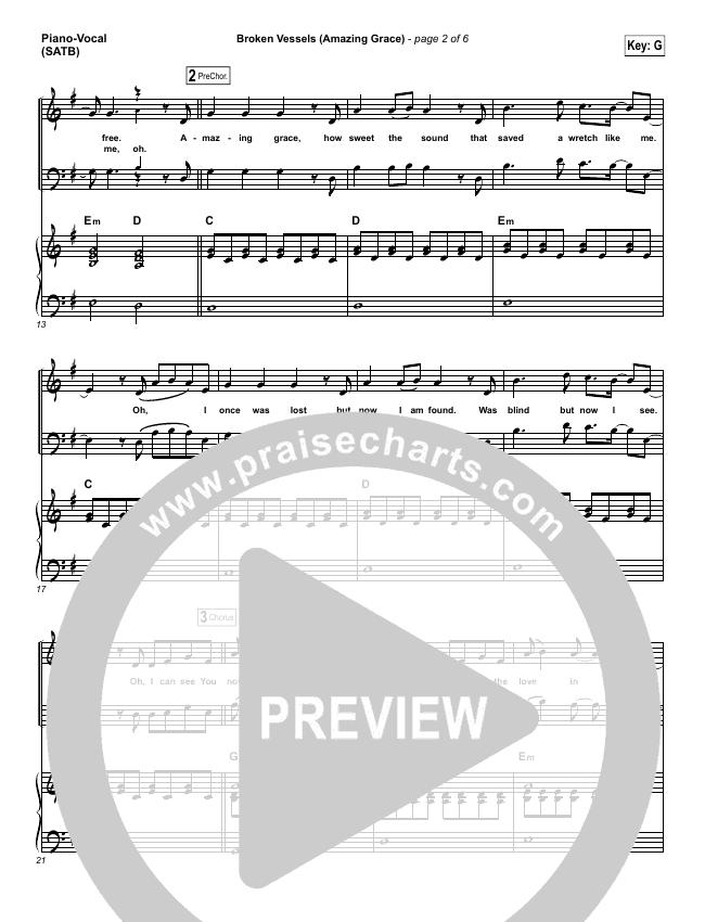 Broken Vessels Piano/Vocal (SATB) (Hillsong Worship)