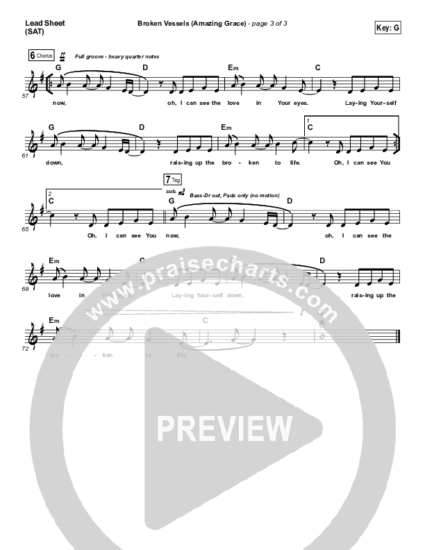 Broken Vessels Lead & Piano/Vocal (Hillsong Worship)