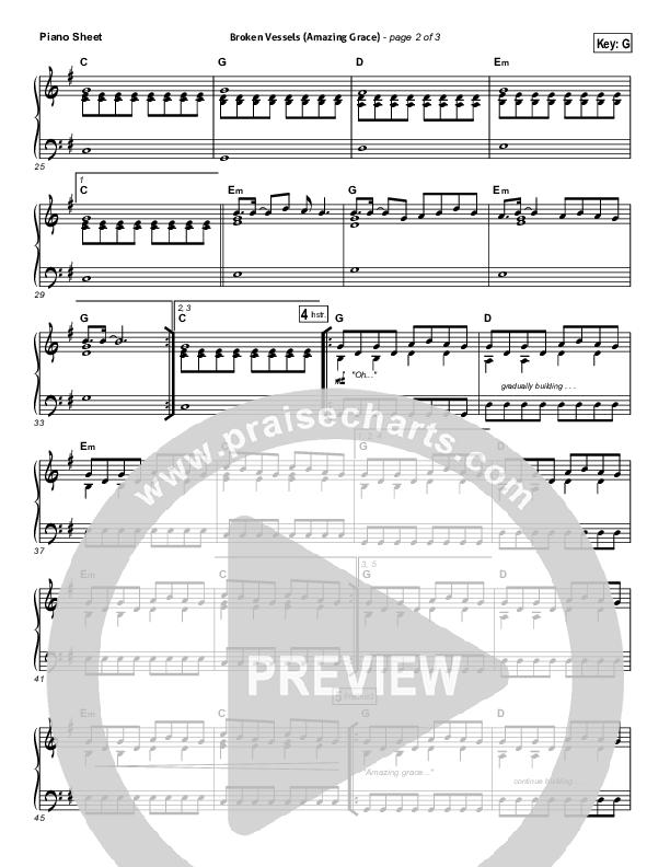 Broken Vessels Piano Sheet (Hillsong Worship)