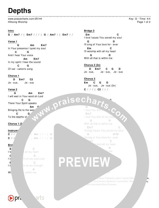 Depths Chords & Lyrics (Hillsong Worship)