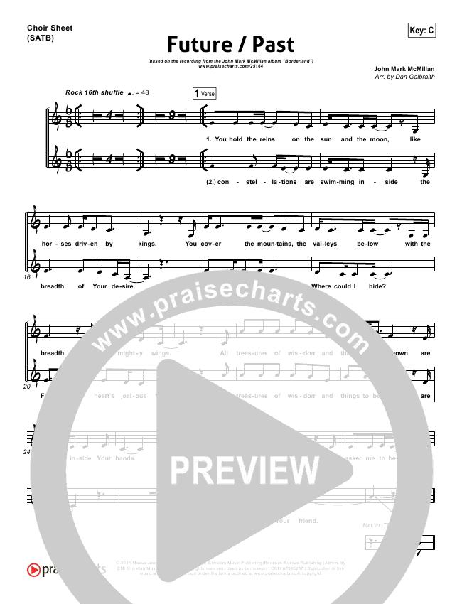 Future Past Choir Sheet (SATB) (John Mark McMillan)