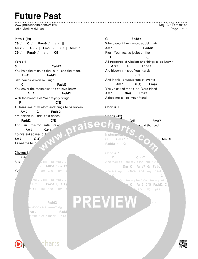 Future Past Chords & Lyrics (John Mark McMillan)