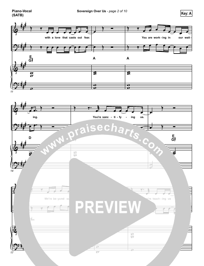 Sovereign Over Us Piano/Vocal (SATB) (Michael W. Smith)