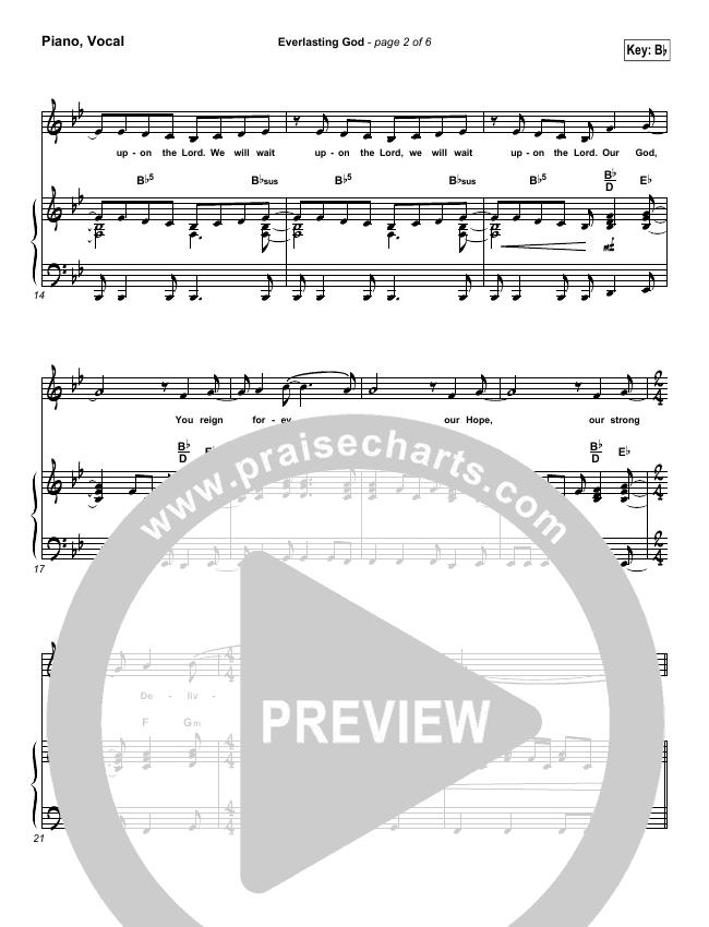 Everlasting God Piano/Vocal (SATB) (Brenton Brown)