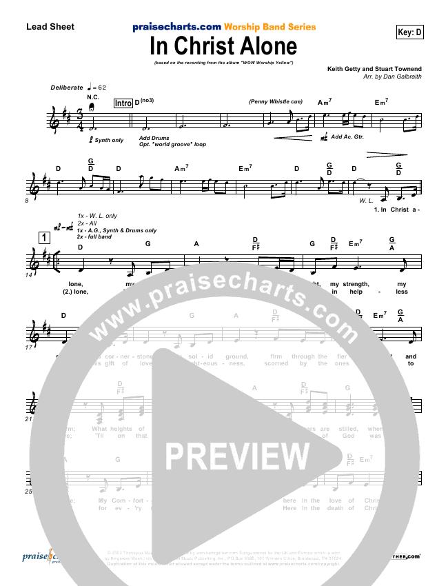 In Christ Alone Lead & Piano/Vocal (Geoff Moore)