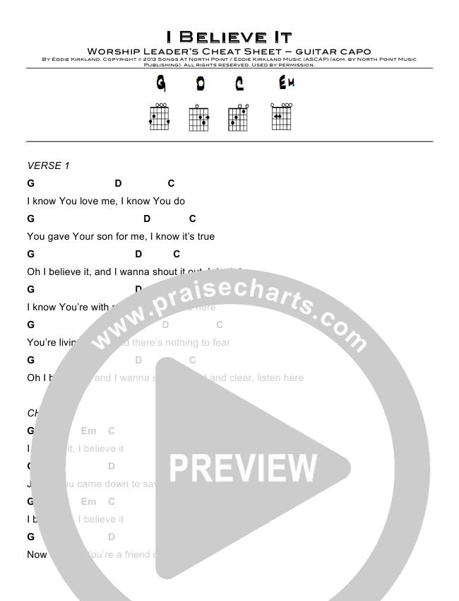 I Believe It Chords North Point Kids Eddie Kirkland Praisecharts