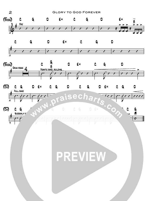 Glory To God Forever Rhythm Chart (Steve Fee / North Point Worship)