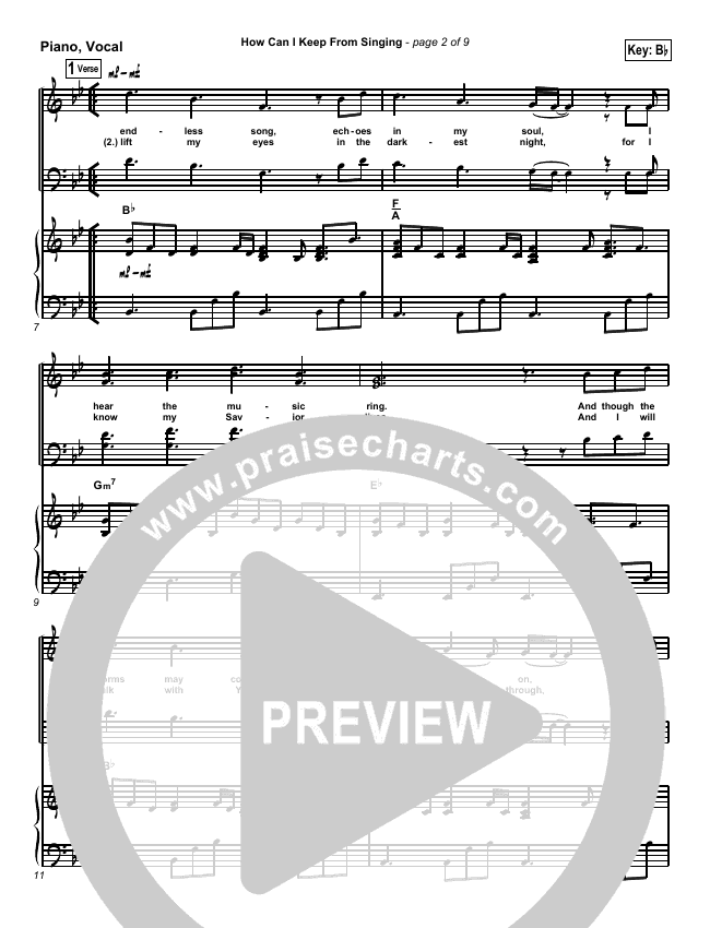 How Can I Keep From Singing Piano/Vocal (SATB) (Chris Tomlin)