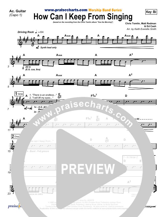 How Can I Keep From Singing Rhythm Chart (Chris Tomlin)
