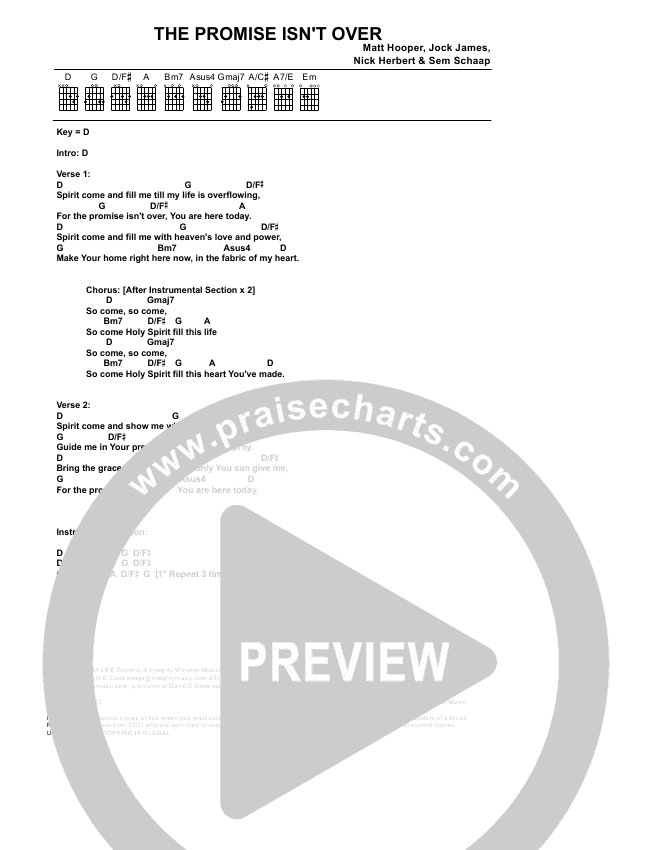 The Promise Isnt Over Chords Life Worship Praisecharts
