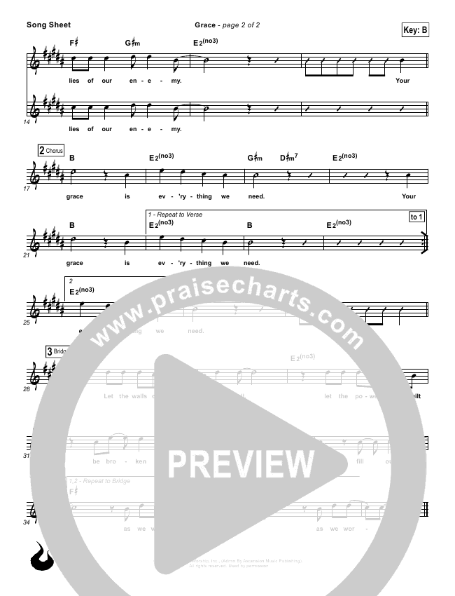 Grace Lead Sheet (Ascension Worship)