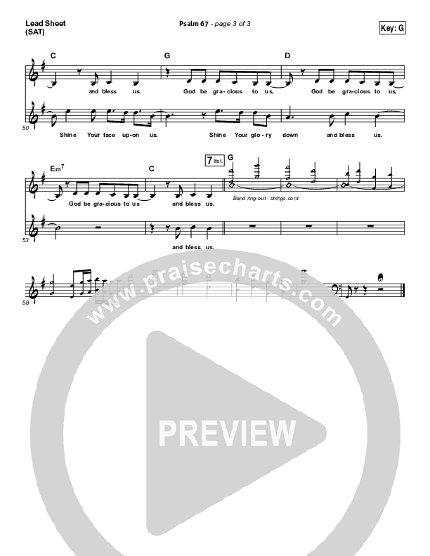 Psalm 67 Lead Sheet (Ascension Worship)