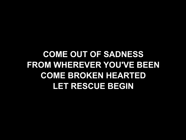 Come As You Are Lyric Slides (David Crowder)