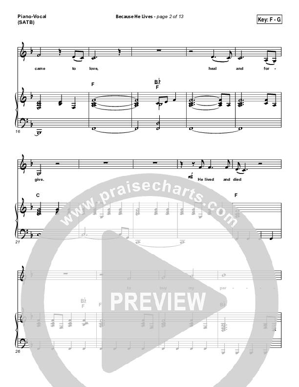 Because He Lives Piano/Vocal (SATB) (David Crowder)