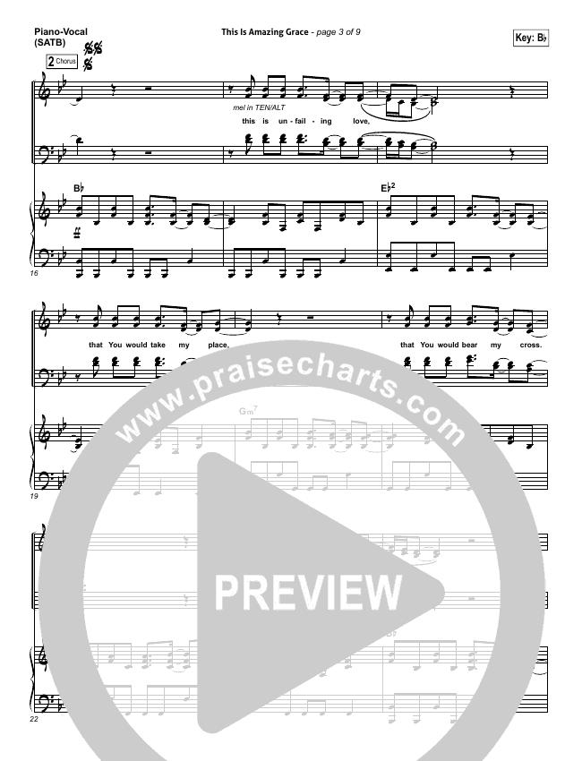 This Is Amazing Grace Piano/Vocal (SATB) (Phil Wickham)