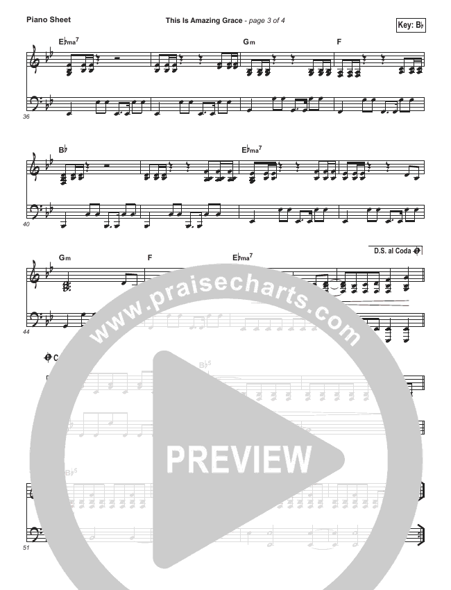This Is Amazing Grace Piano Sheet (Phil Wickham)