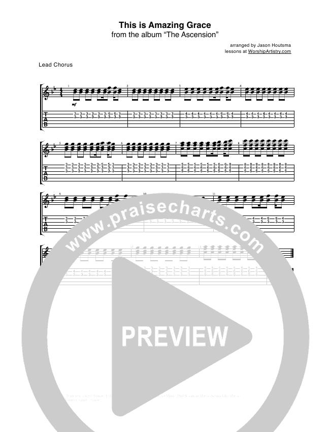 This Is Amazing Grace Guitar Tab Phil Wickham Praisecharts