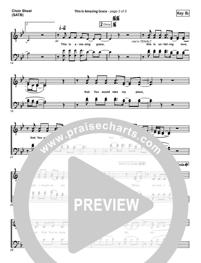 This Is Amazing Grace Choir Sheet (SATB) - Phil Wickham