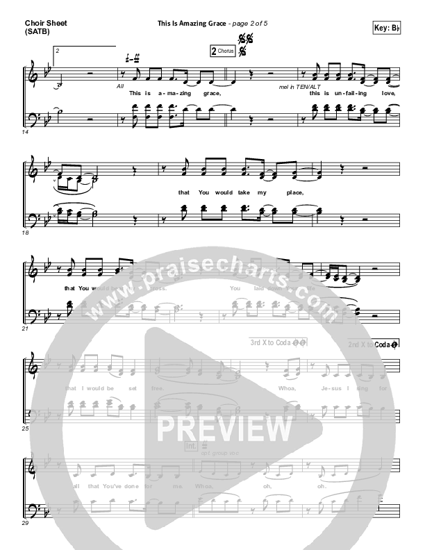 This Is Amazing Grace Choir Sheet (SATB) (Phil Wickham)