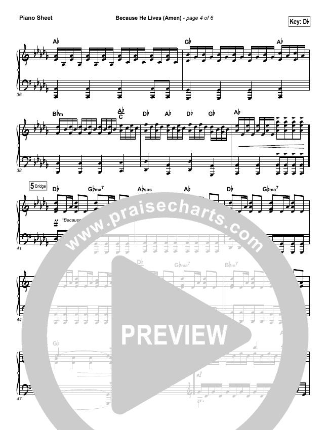 Because He Lives Amen Orchestration Matt Maher Praisecharts
