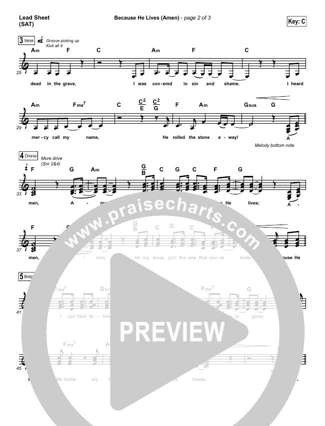 Because He Lives (Amen) Piano/Vocal Pack (Matt Maher)
