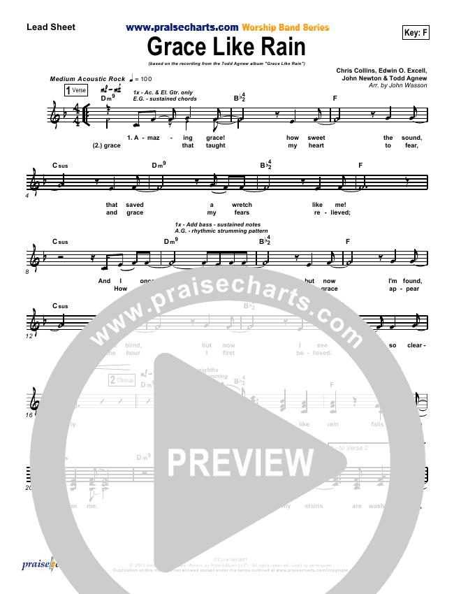 Grace Like Rain Orchestration Todd Agnew Praisecharts