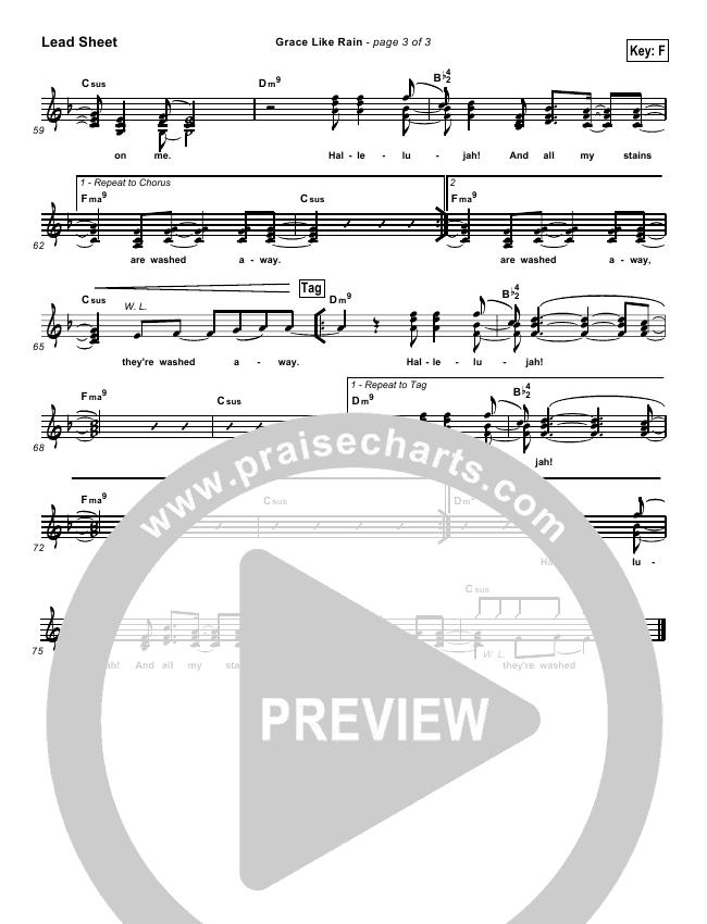 Grace Like Rain Lead & Piano/Vocal (Todd Agnew)