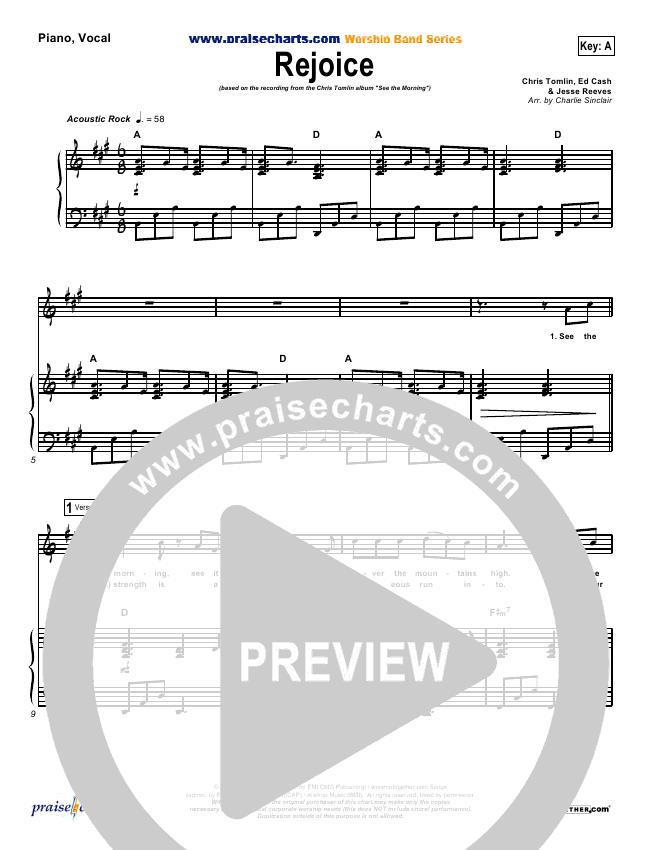 Rejoice Lead & Piano/Vocal (Chris Tomlin)