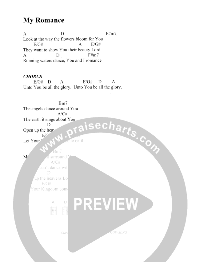 My romance chords christ for the nations praisecharts