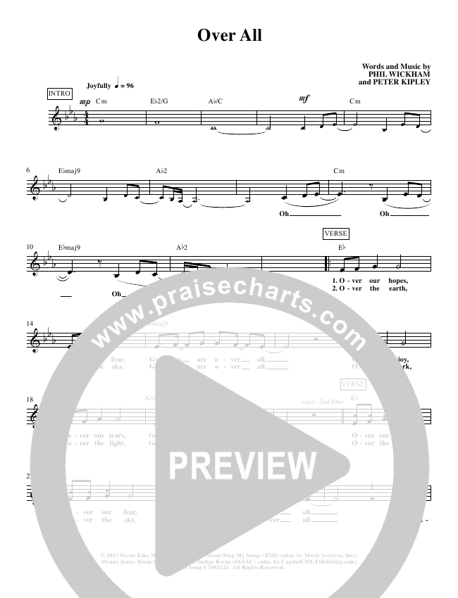 Over All Lead Sheet (Phil Wickham)