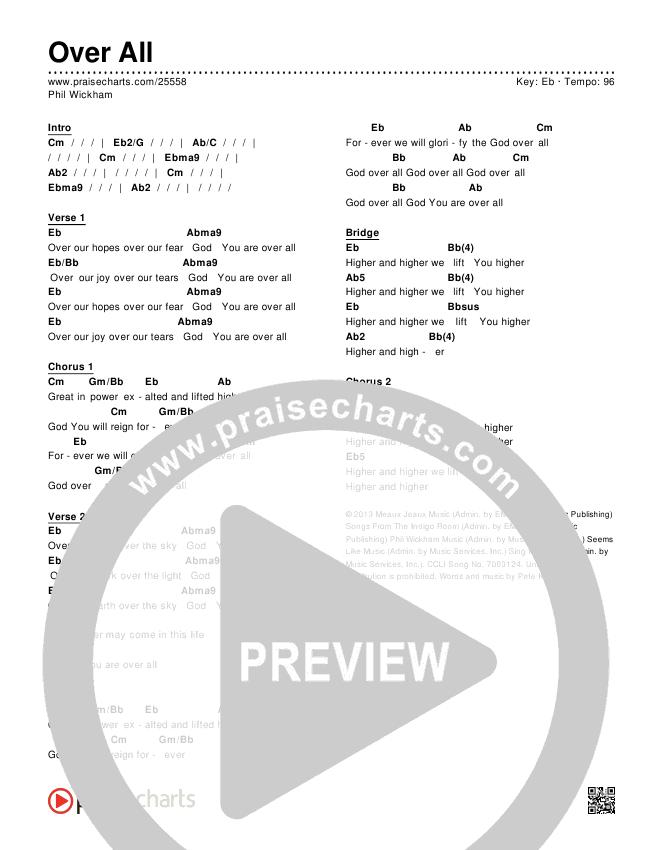Over All Chords & Lyrics (Phil Wickham)